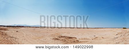 Panorama Of Sand Dunes And Mountains Of Egypt