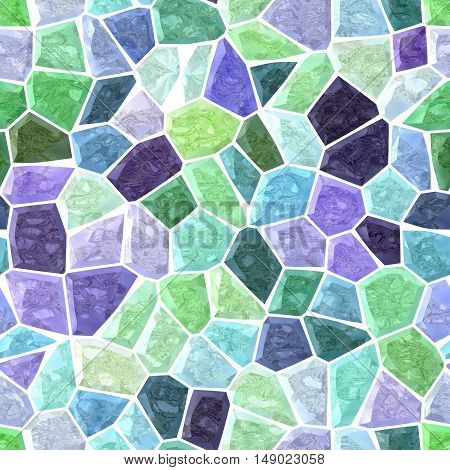 pastel green and purple marble irregular mosaic background with white grout