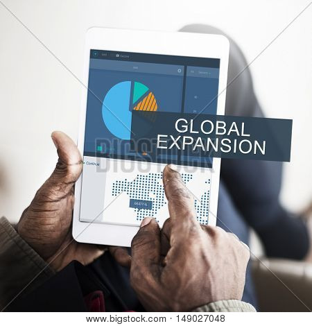Business Analysis Data Global Trade Graphic Concept