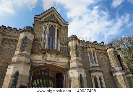 Highgate, London, Uk - March 12, 2016: Exterior Of The Chapel In The West Cemetery