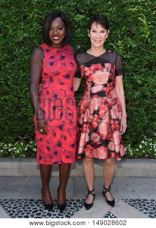 LOS ANGELES - SEP 25:  Viola Davis and Cheryl Saban arrives to The Rape Foundation Annual Brunch on September 25, 2016 in Beverly Hills, CA
