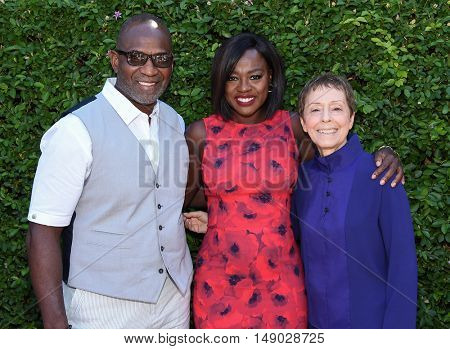 LOS ANGELES - SEP 25:  Viola Davis, Julius Tennon and Gail Abarbanel arrives to The Rape Foundation Annual Brunch on September 25, 2016 in Beverly Hills, CA