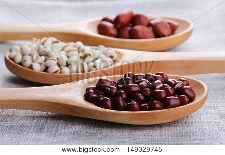 Beans And Wooden Spoon