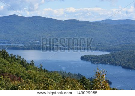 View of Lake George, from Prospect Mountain, in New York State