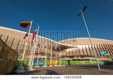 Rio de Janeiro, Brazil - September 12, 2016: Carioca Arena 2 venue for the Olympic and Paralympic Games of 2016 in Rio de Janeiro.