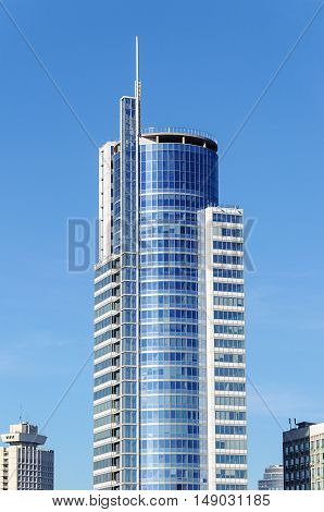 Top of skyscraper Business Center Royal Plaza in center of Minsk Belarus
