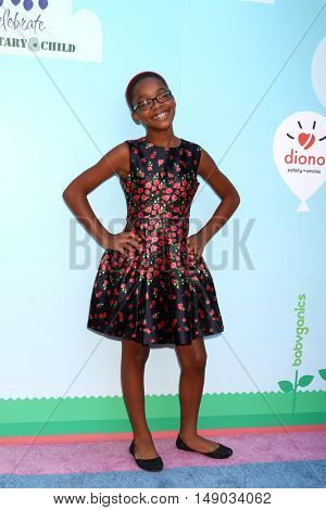LOS ANGELES - SEP 24:  Marsai Martin at the 5th Annual Red Carpet Safety Awareness Event at the Sony Picture Studios on September 24, 2016 in Culver City, CA
