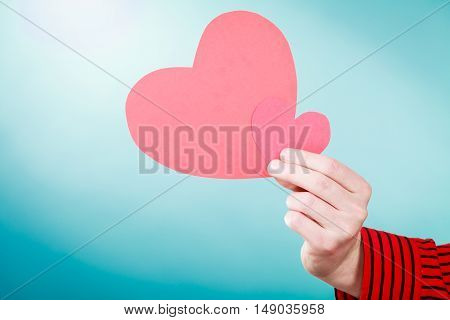 Man With Beautiful Red Heart.