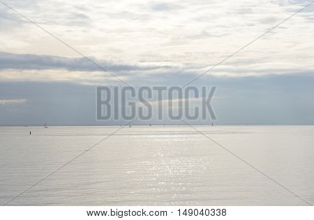 The photo of Baltic Sea by cloud day.