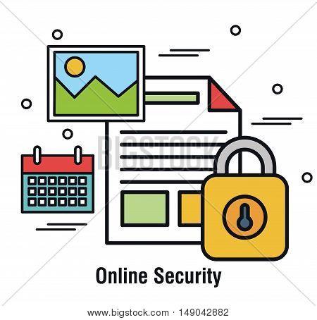online security documents archive file design vector illustation eps 10
