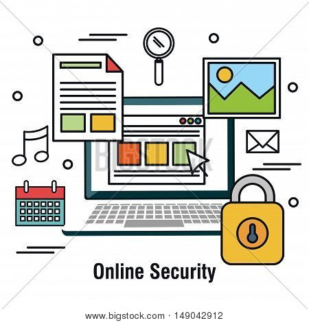 computing protecting data base graphic vector illustration eps 10