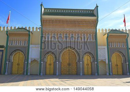 Dar El Makhzen royal palace Morocco, Africa