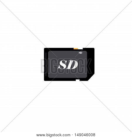 sd card icon of vector EPS 10