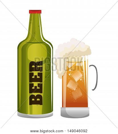 beer glass icon design graphic vector illustration eps 10