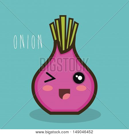 cartoon onion red icon expression design vector illustration eps 10