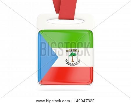 Flag Of Equatorial Guinea, Square Card