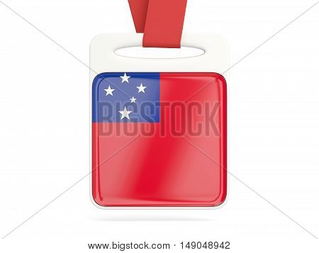Flag Of Samoa, Square Card
