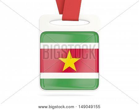 Flag Of Suriname, Square Card