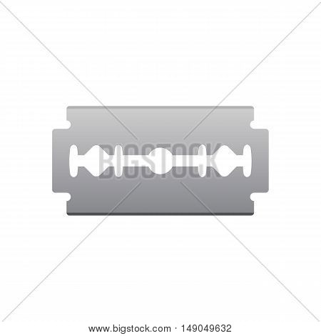 Razor blade isolated on white background vector illustration