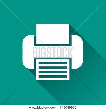 Illustration of printer design icon with shadow