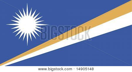 Flag of Marshall Islands, national country symbol illustration