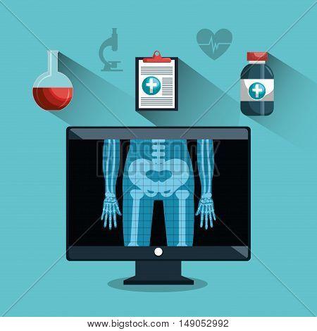 digital healthcare different services medical vector illustration eps 10