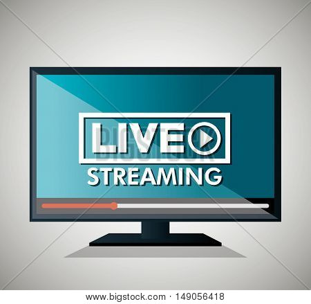 screen with live streaming icon vector illustration