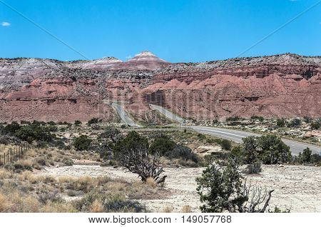 View of mesas from Interstate 70, Utah