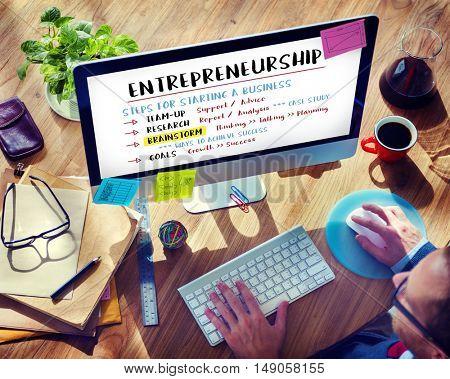 Business Plan Strategy Success Goals Research Concept