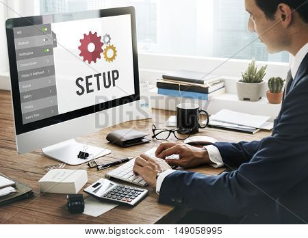 Setup Settings Configuration Tools Concept