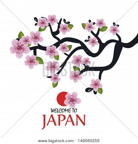 tree traditional japanese icon design vector illustration eps 10
