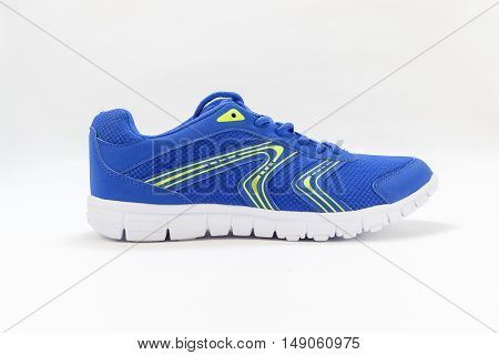 Blue sport shoes on a white background (no name no brand made in China)