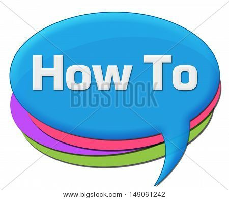 How to text written over blue colorful comment symbol.