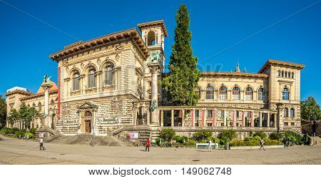 LAUSANNE,SWITZERLAND - AUGUST 26,2016 - The Palais de Rumine in Lausanne .The palace at this time serves as a museum and library.