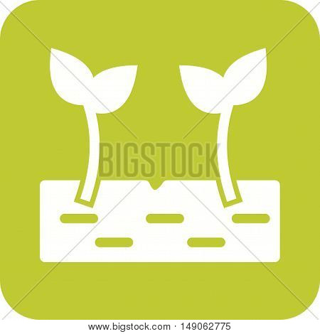 Plant, young, sprout icon vector image. Can also be used for farm. Suitable for web apps, mobile apps and print media.