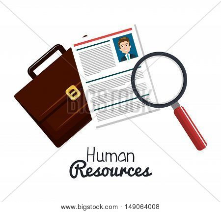 human resourses search cv portfolio graphic vector illustration