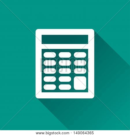 Illustration of calculator design icon with shadow
