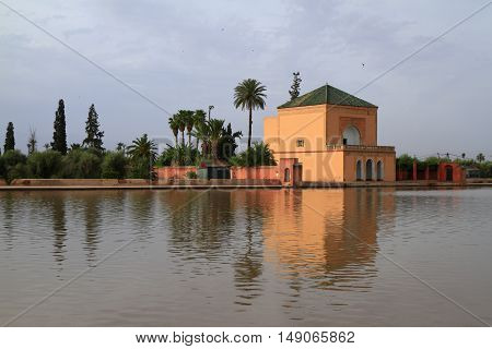 The Menara gardens in Marrakesh, Morocco, Africa