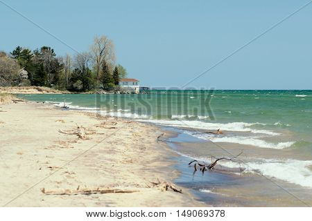 Beach at Lake Huron, Michigan, USA