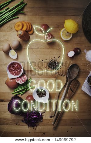 Food Ingredients Good Condition Concept