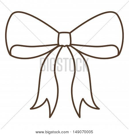 bowtie ribbon icon. decoration present and gift theme. Isolated design. Vector illustration