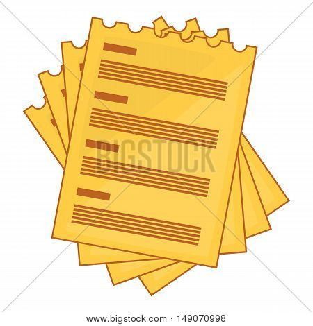 Four list icon in cartoon style isolated on white background. Paper symbol vector illustration