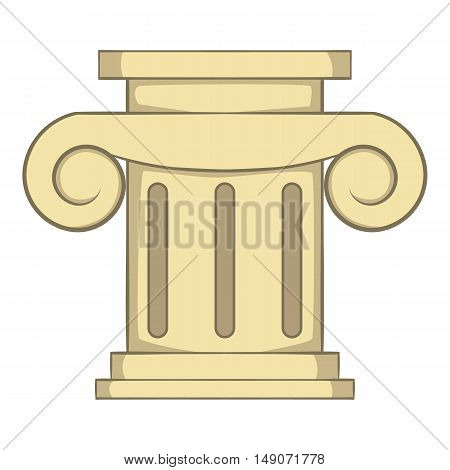 Roman column icon in cartoon style isolated on white background. Structure symbol vector illustration