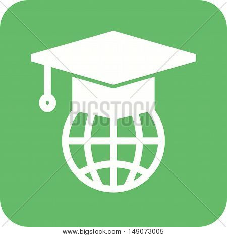 Degree, web, global icon vector image. Can also be used for E Learning. Suitable for mobile apps, web apps and print media.