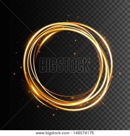 Swirl trail effect Glow light effect Abstract vector illustration