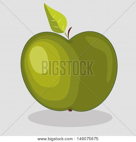 Very high quality original trendy  vector green apple illustration