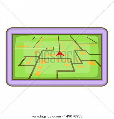 GPS navigation icon in cartoon style isolated on white background. Transportation symbol vector illustration