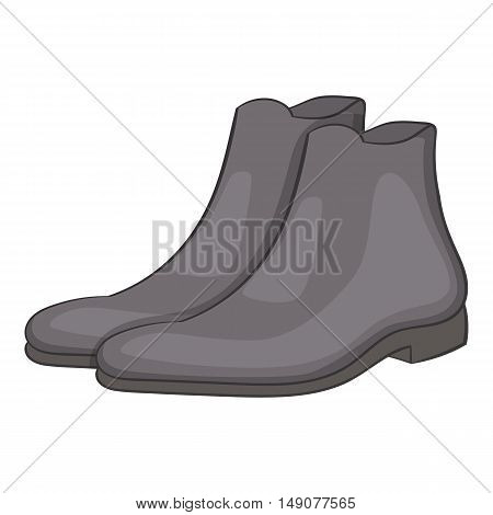 Mens winter boot icon in cartoon style isolated on white background. Wear symbol vector illustration