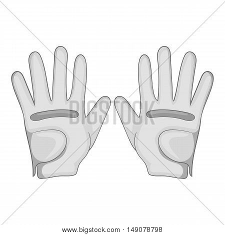 Golf gloves icon in cartoon style isolated on white background. Sport symbol vector illustration