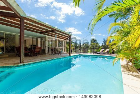 Backyard With Swimming Pool